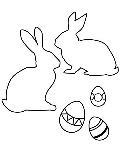 Desenho de Silhuetas de coelhos da Páscoa para colorir ...