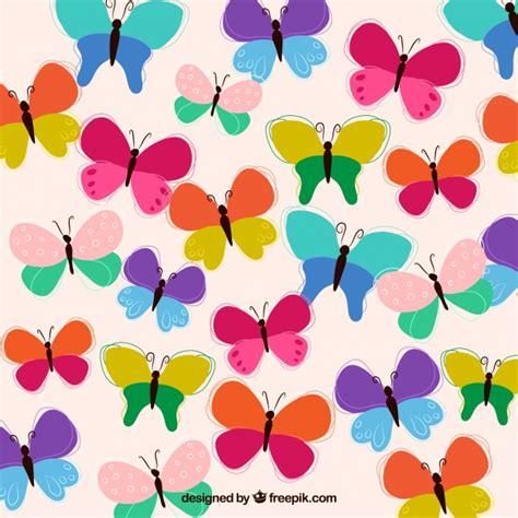 Desenho fundo borboletas coloridas | Baixar vetores grátis