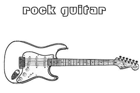 Desenhos De Guitarras Para Colorir e Imprimir   O Mundo ...