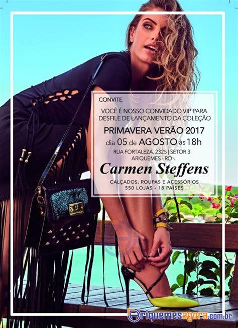 Desfile Lançamento de COLEÇÃO PRIMAVERA VERÃO 2017 Carmen ...