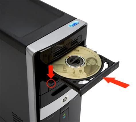 Desktop HP   Cómo abrir la bandeja de una unidad de CD o ...