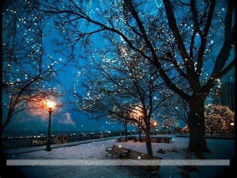 Desktop Wallpaper Snowy Night Scenes - WallpaperSafari