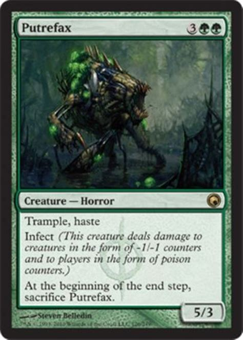 Details about mtg GREEN INFECT DECK rot wolf Magic the ...