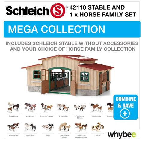 Details about SCHLEICH TOY STABLE 42110 COMPLETE WITH ...