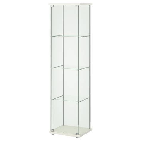 DETOLF Glass-door cabinet White 43x163 cm - IKEA