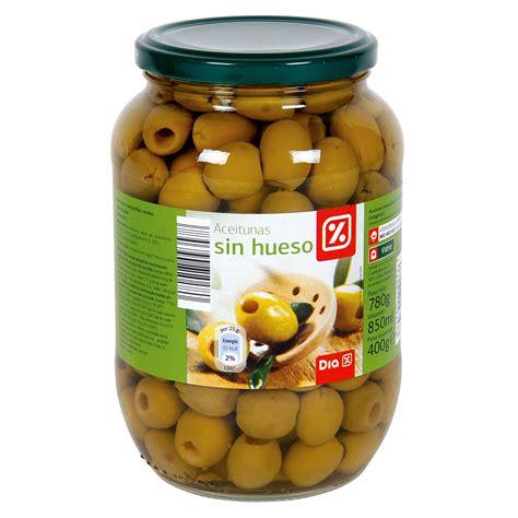 DIA aceitunas manzanilla verde sin hueso frasco 400 gr ...