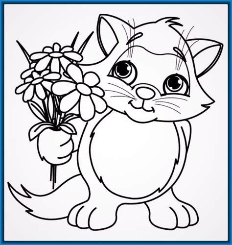 Día de Dibujos para Colorear de Gatos Tiernos | Imagenes ...
