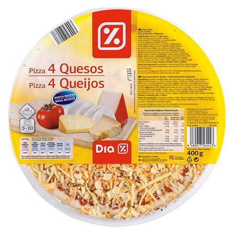 DIA pizza 4 quesos envase 400 gr | PIZZA REFRIGERADA ...