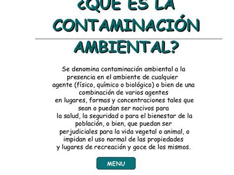 Diapositiva Contaminacion Ambiental