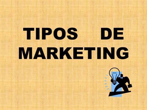 Diapositivas tipos de marketing