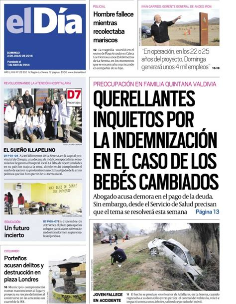 Diario El Día 03-07-2016 | Diario El Día5278
