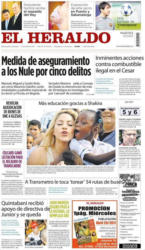 Diario El Heraldo De Tegucigalpa Honduras Periodicos ...