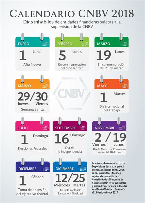 Días Festivos de Bancos 2018   CalendarioLaboral.com.mx