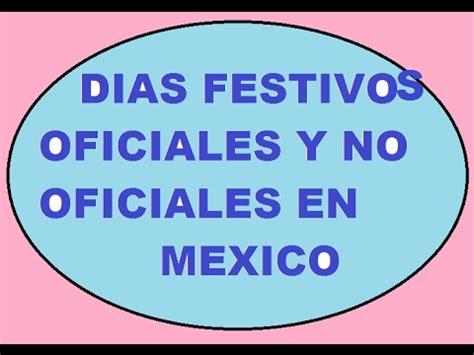 DIAS FESTIVOS OFICIALES Y NO OFICIALES EN MEXICO   YouTube