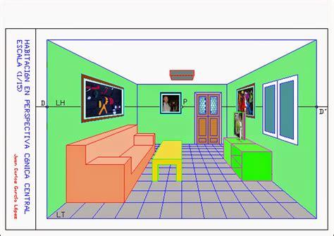 DIBUJA GARLO: Perspectiva Cónica Central de una habitación ...