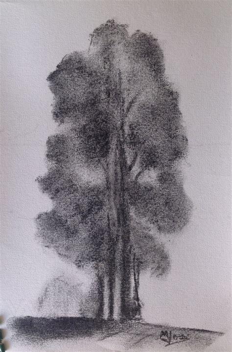 Dibuja un árbol. | Tintero y pincel