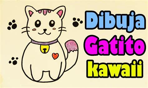 Dibuja un gatito japones kawaii Aprende a Dibujar Dibujin ...