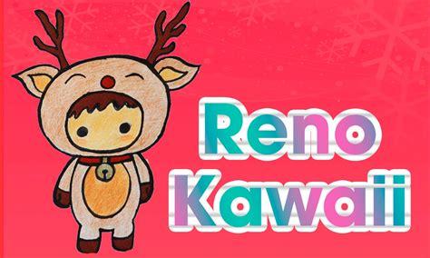 Dibuja un reno kawaii navideño DIBUJOS DE NAVIDAD Aprende ...