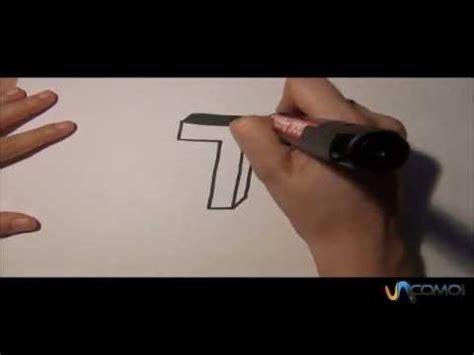 Dibujar la T en 3D   Draw the T in 3D   YouTube