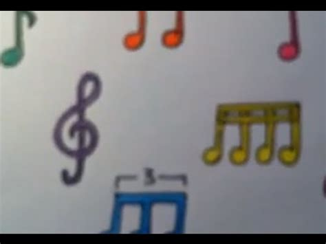 Dibujar notas musicales de colores - YouTube