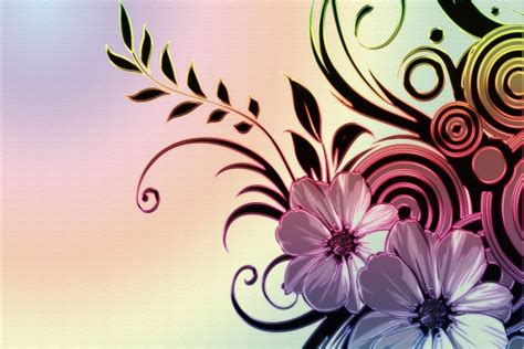 Dibujo abstracto con bonitas flores  40892