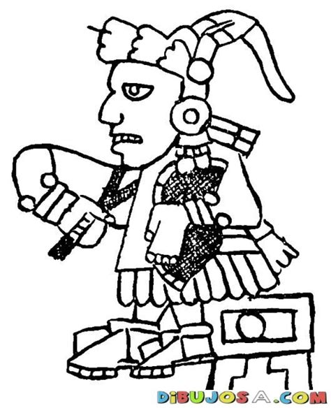 Dibujo Azteca Maya Para Colorear | COLOREAR MAYAS | Dibujo ...