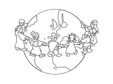Dibujo bola del mundo para colorear - Imagui