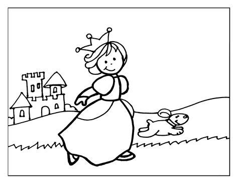 dibujo-colorear-12-princess-running-with-dog – El Alma de ...