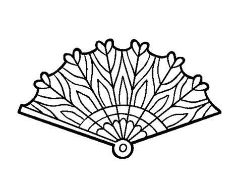 Dibujo de Abanico corazones para Colorear   Dibujos.net