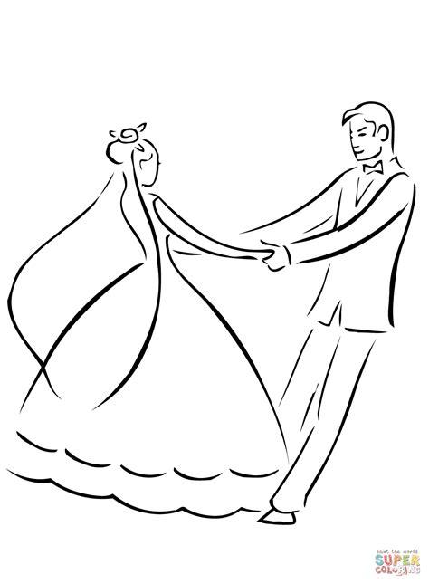 Dibujo de Baile de Recién Casados para colorear | Dibujos ...