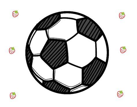 Dibujo de Balón de fútbol pintado por en Dibujos.net el ...