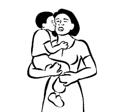 Dibujo de Beso maternal para Colorear   Dibujos.net