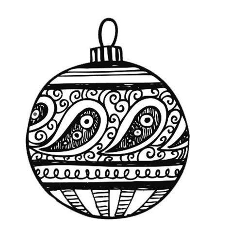 Dibujo de bola de Navidad: Dibujos para colorear