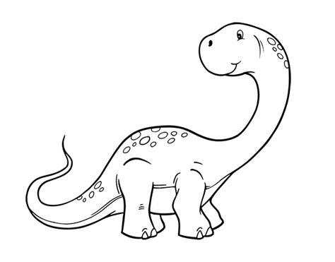 Dibujo de Brachiosaurus para colorear | Para colorear ...