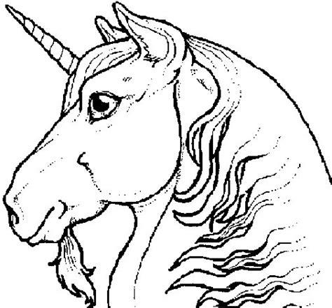 Dibujo de Cabeza de unicornio para Colorear   Dibujos.net