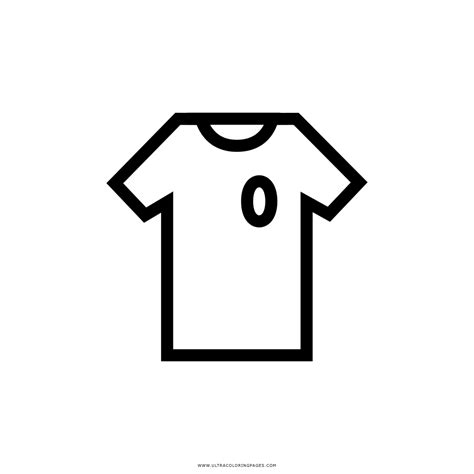 Dibujo De Camiseta De Fútbol Para Colorear - Ultra ...