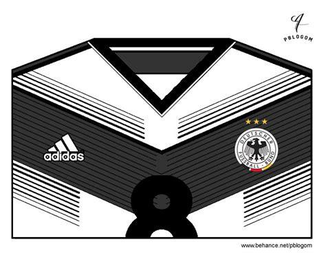 Dibujo de Camiseta del mundial de fútbol 2014 de Alemania ...