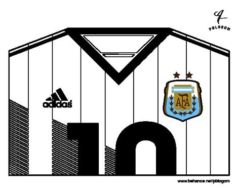 Dibujo de Camiseta del mundial de fútbol 2014 de Argentina ...