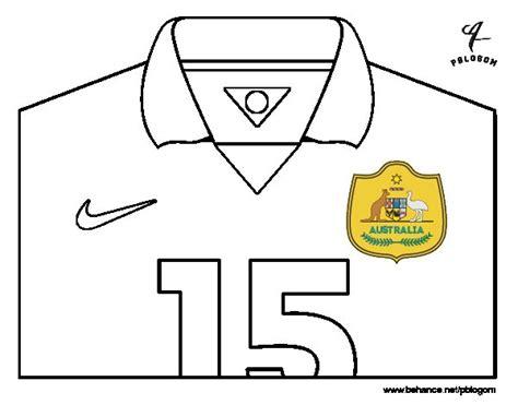 Dibujo de Camiseta del mundial de fútbol 2014 de Australia ...