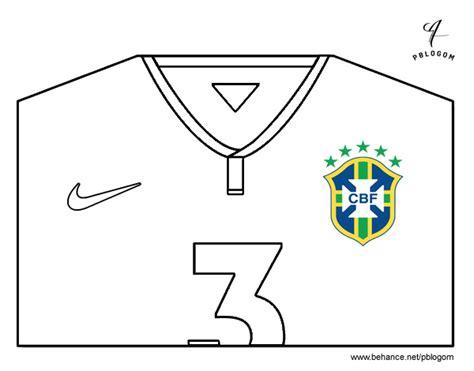 Dibujo de Camiseta del mundial de fútbol 2014 de Brasil ...