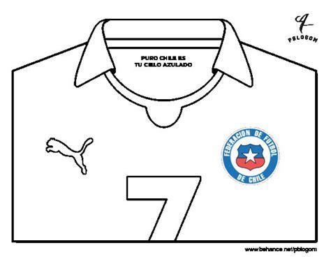 Dibujo de Camiseta del mundial de fútbol 2014 de Chile ...