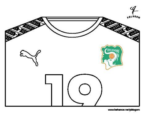 Dibujo de Camiseta del mundial de fútbol 2014 de Costa de ...