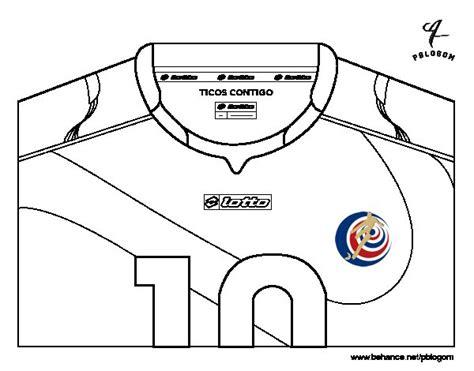 Dibujo de Camiseta del mundial de fútbol 2014 de Costa ...
