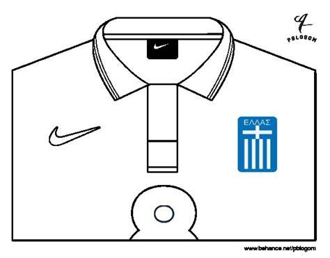 Dibujo de Camiseta del mundial de fútbol 2014 de Grecia ...