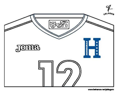 Dibujo de Camiseta del mundial de fútbol 2014 de Honduras ...