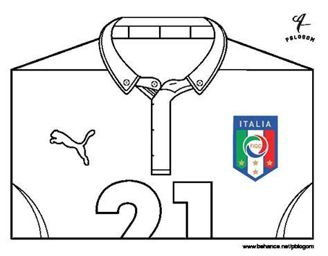 Dibujo de Camiseta del mundial de fútbol 2014 de Italia ...