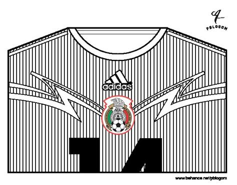 Dibujo de Camiseta del mundial de fútbol 2014 de México ...