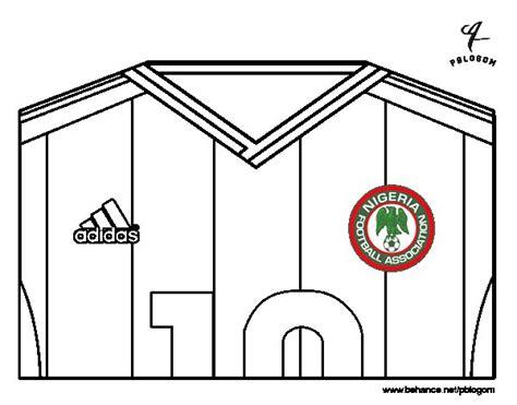 Dibujo de Camiseta del mundial de fútbol 2014 de Nigeria ...