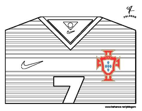 Dibujo de Camiseta del mundial de fútbol 2014 de Portugal ...