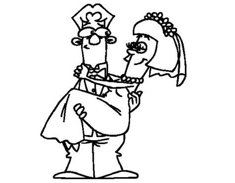 Dibujo de Casados para Colorear   Dibujos.net